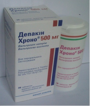 Депакин Хроно 500 мг Depakine Chrono 500 mg таблетки №30